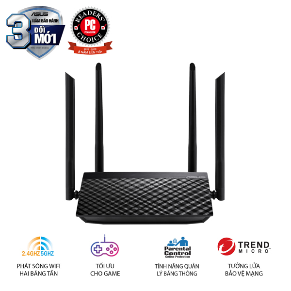 Router Wifi Asus RT-AC1200-V2