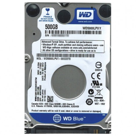 HDD Laptop 500GB WD5000LPCX