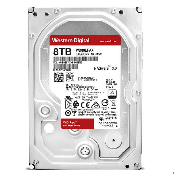 HDD WD Red NAS 3.5'' 8TB SATA III 6Gb/s 5400RPM 256Mb (WD80EFAX)