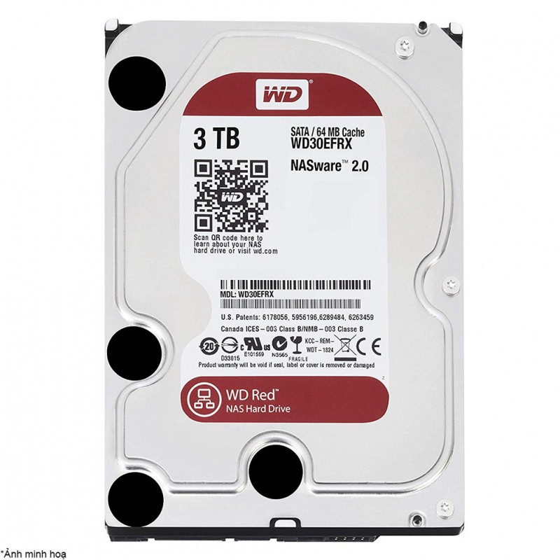 HDD NAS WD Red 3TB Sata3 5400rpm (WD30EFRX)