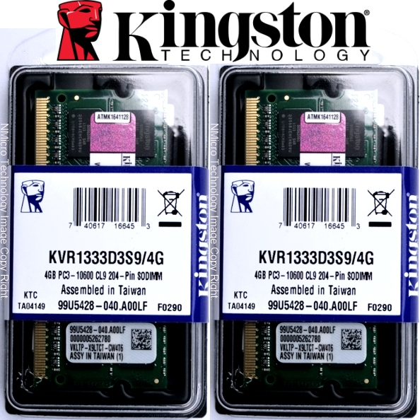 Ram Laptop Kingston 8GB DDR3L 1600  (haswell)