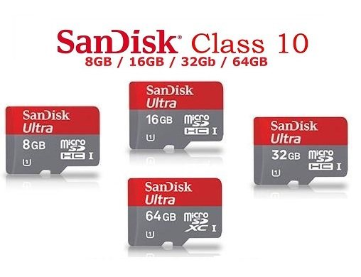 Card Micro SDHC 8GB SanDisk / Class 10