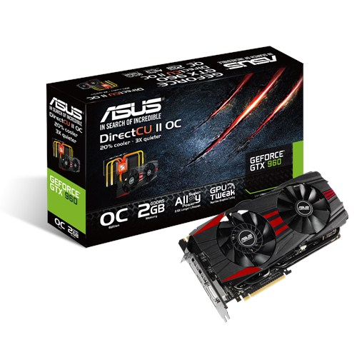 VGA ASUS 2GB GTX960 DC2OC- 2GD5 BLACK