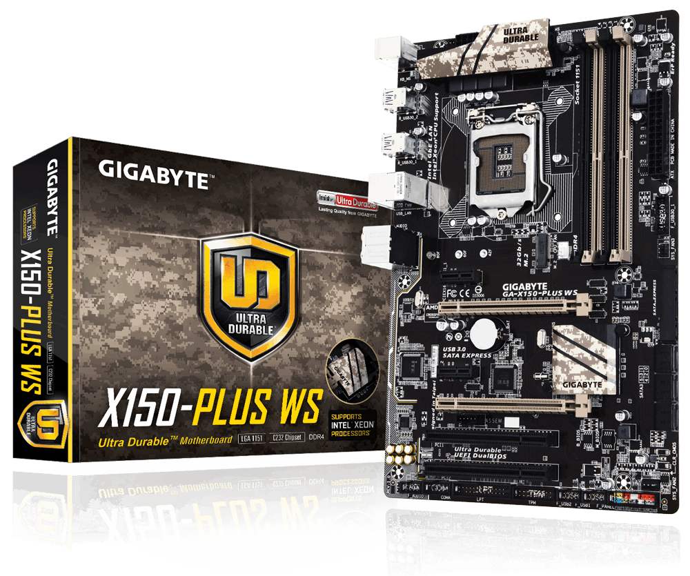 MAINBOARD GIGABYTE X150- PLUS WS (Rev 1.0)